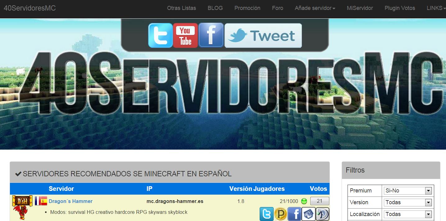 Sistema de votos de 40servidoresmc.es