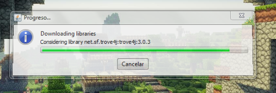 proceso de instalación de Minecraft forge