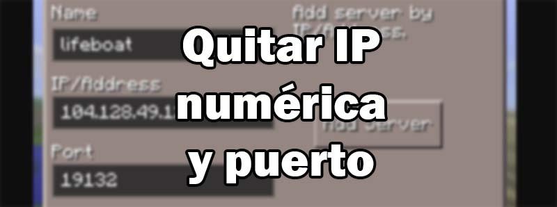Cómo quitar la IP numérica y el puerto (SRV) de un servidor de Minecraft