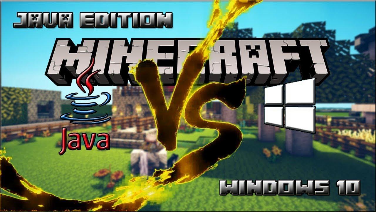 Minecraft versión Java o versión Windows 10 ¿Cuál debería comprar?