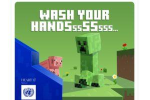 Minecraft te da recomendaciones contra el Coronavirus