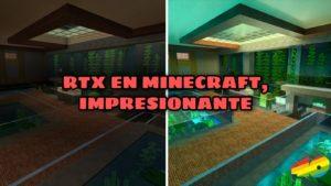 Así luce la versión de Minecraft RTX, impresionante 😍