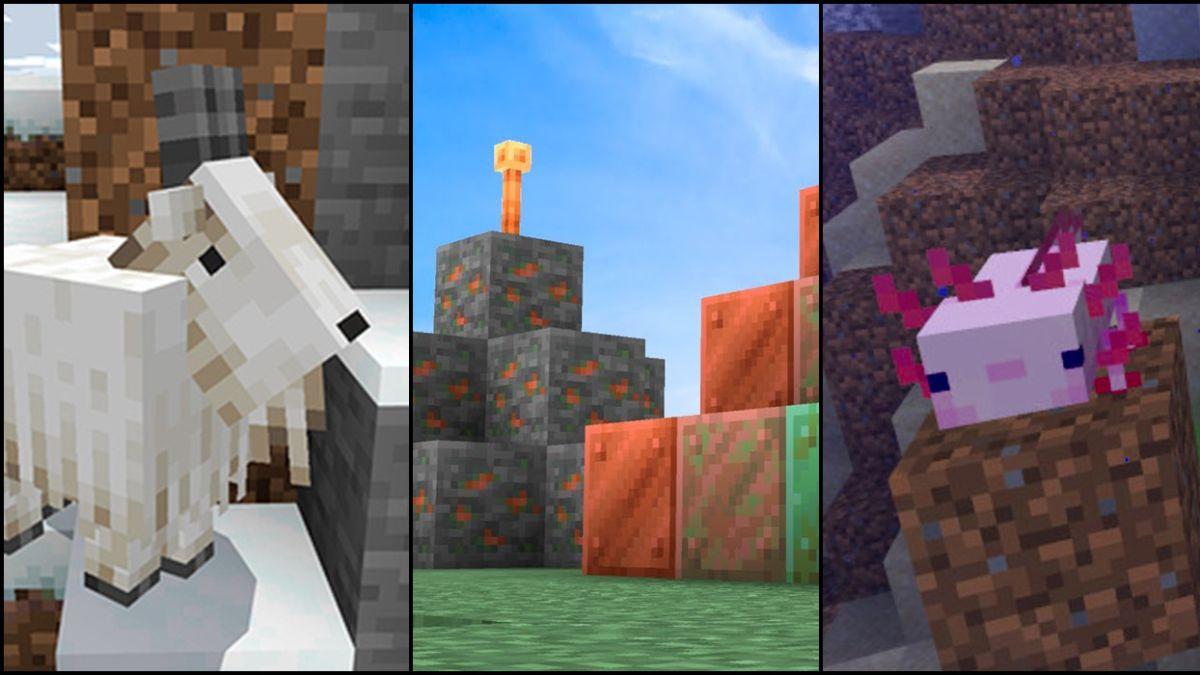 Minecraft 1.17: Caves & Cliff; ya han llegado los primeros cambios