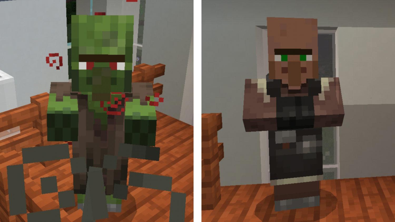 Como curar aldeanos zombis en Minecraft 🧟